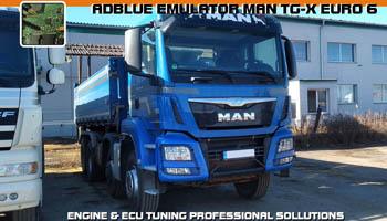 Adblue emulator MAN TGX  - vypnutí adblue
